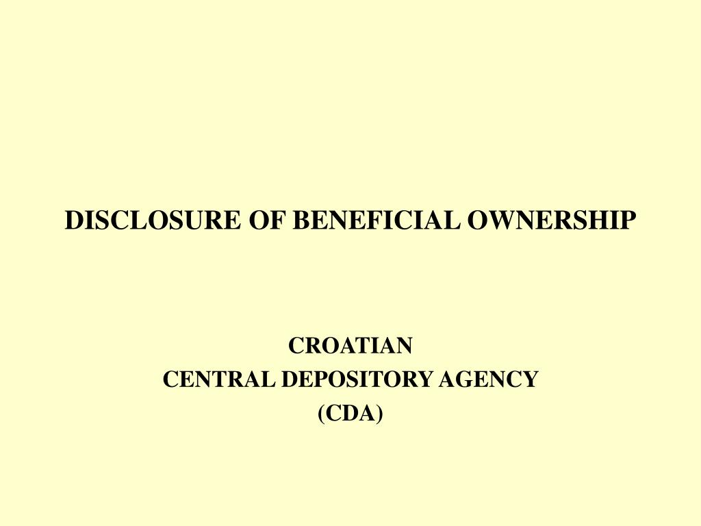 disclosure of beneficial ownership l.