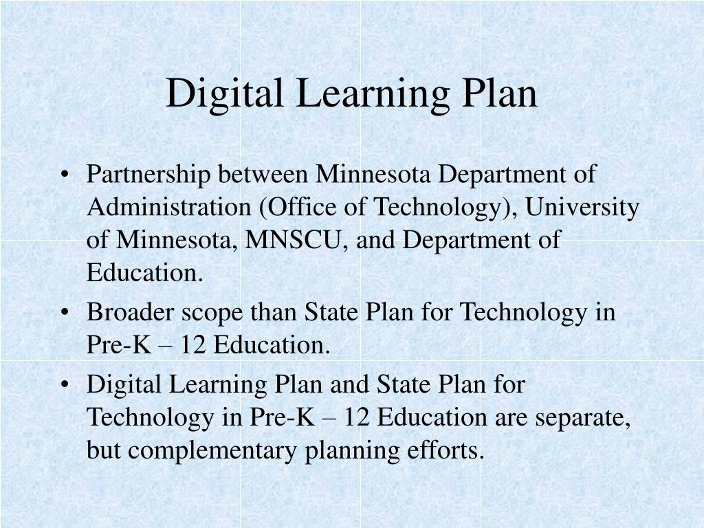 Digital Learning Plan