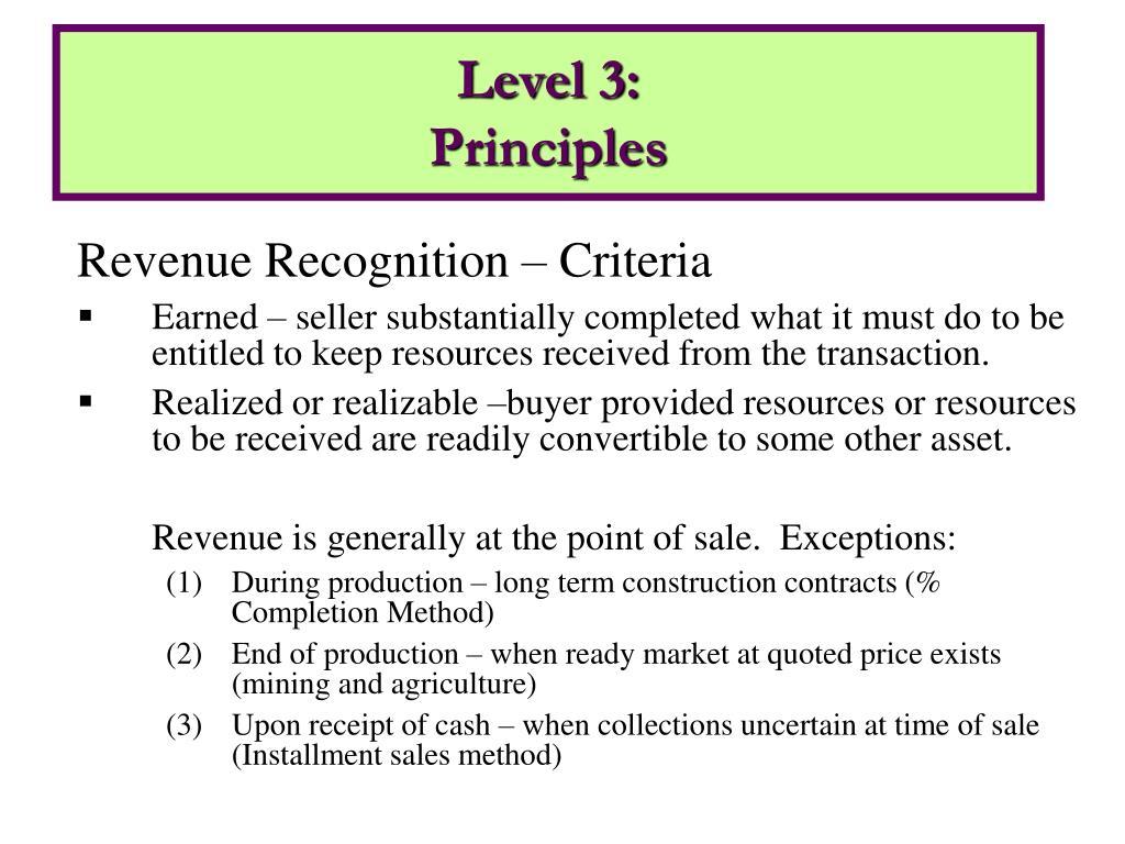 Revenue Recognition – Criteria