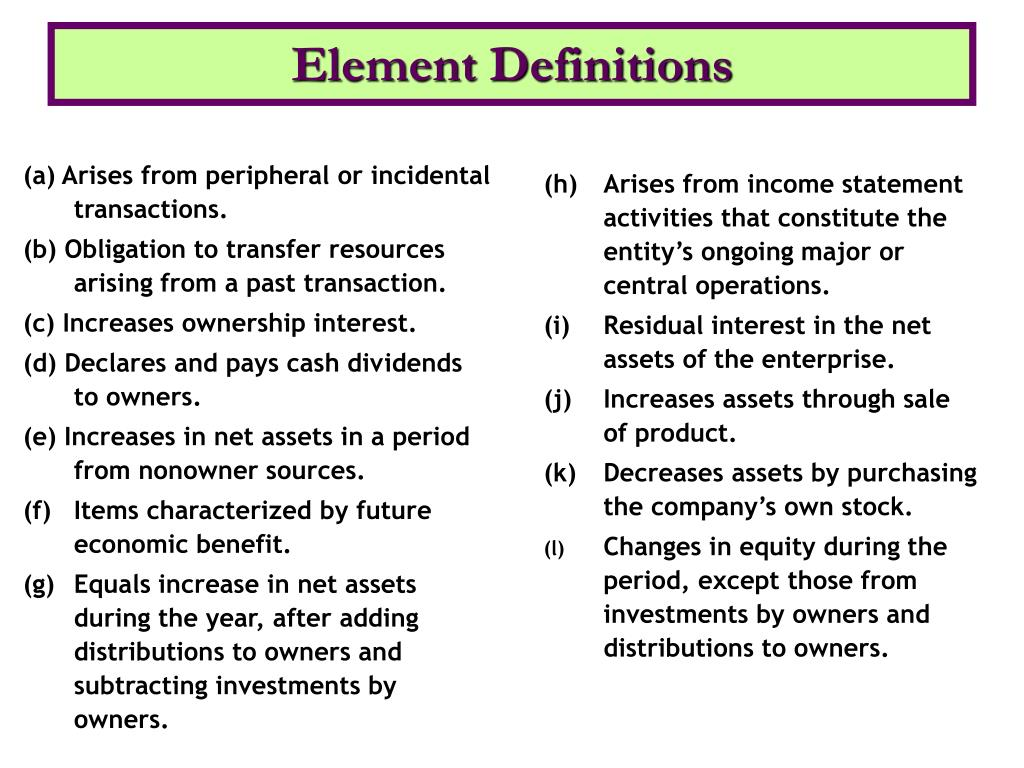 Element Definitions