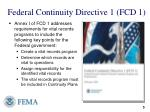 federal continuity directive 1 fcd 1