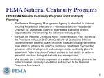 fema national continuity programs