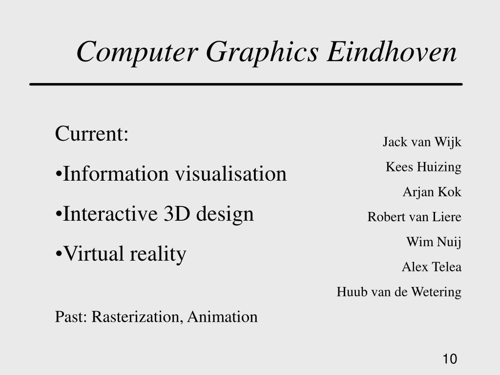 Computer Graphics Eindhoven