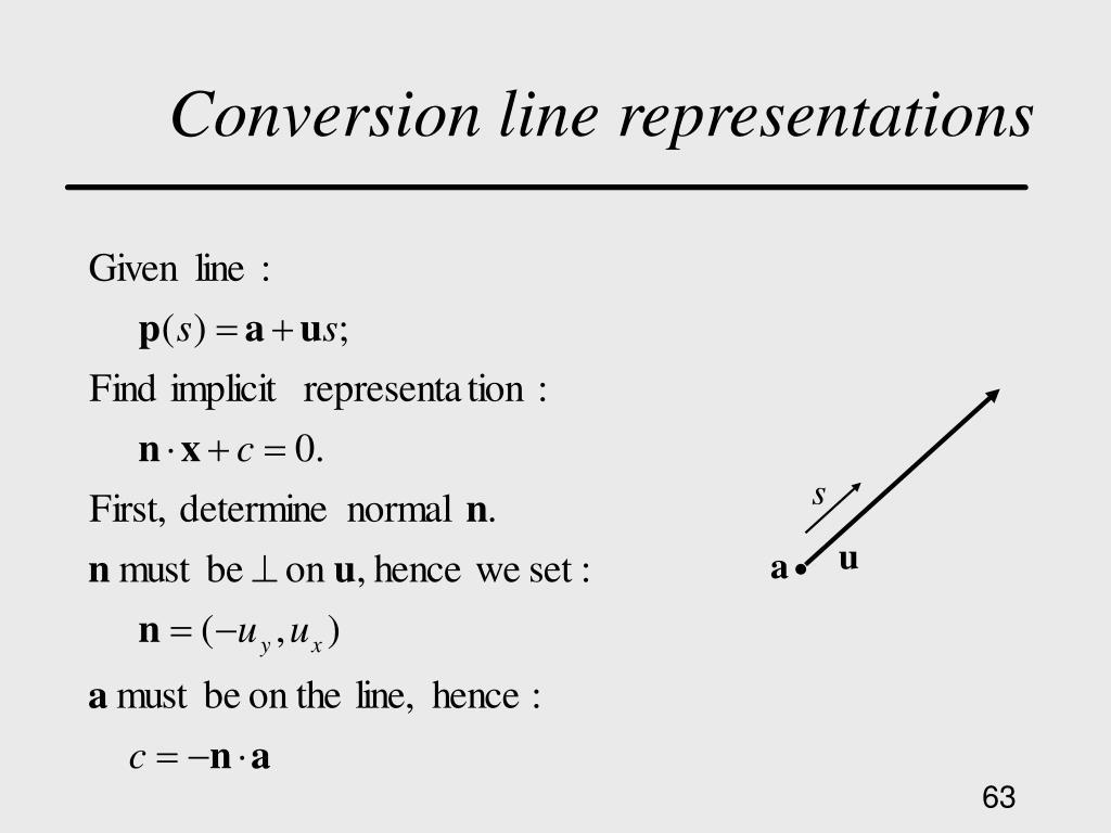 Conversion line representations