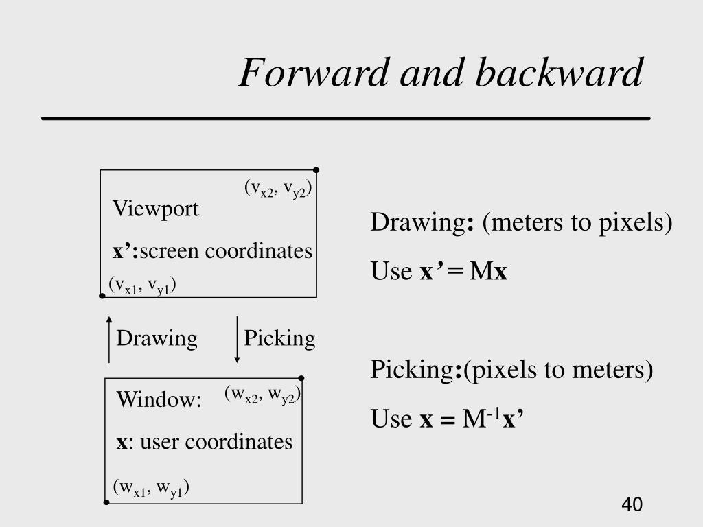 Forward and backward