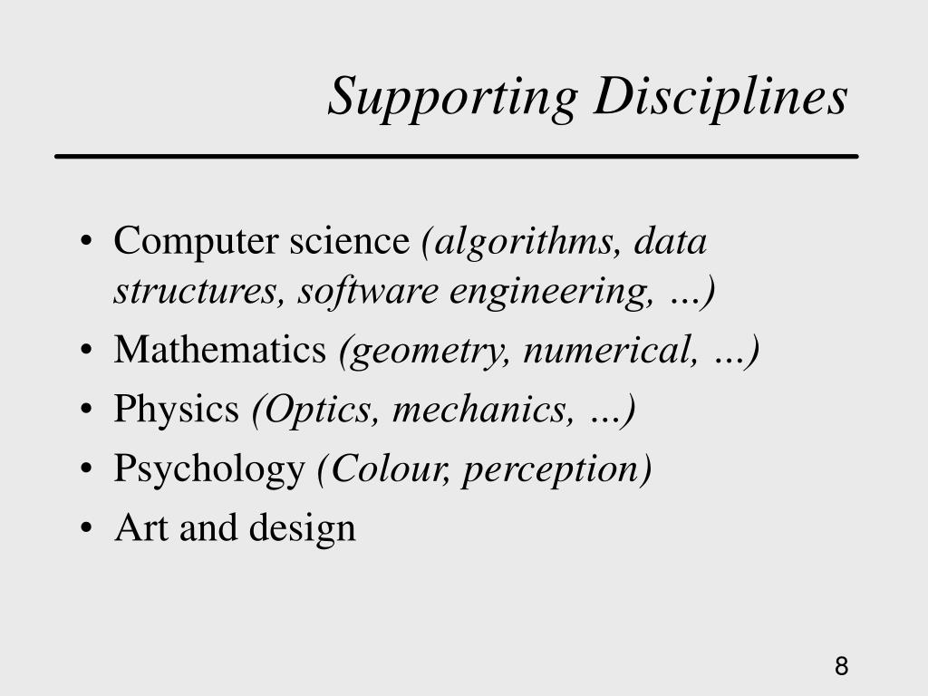 Supporting Disciplines