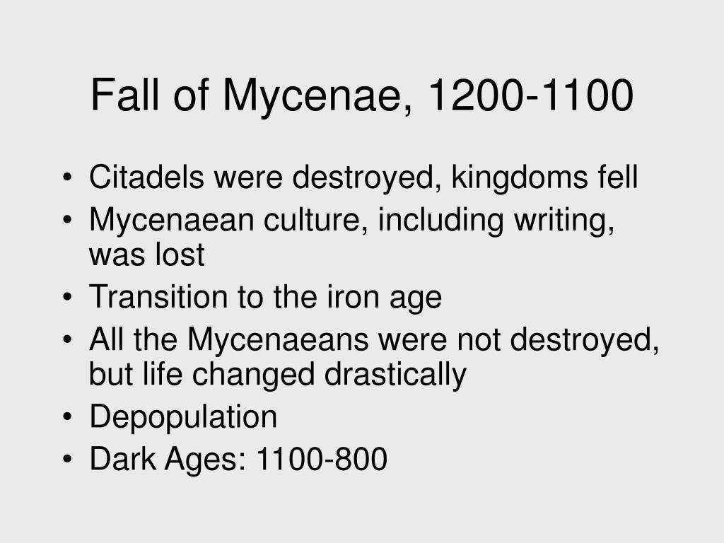 Fall of Mycenae, 1200-1100