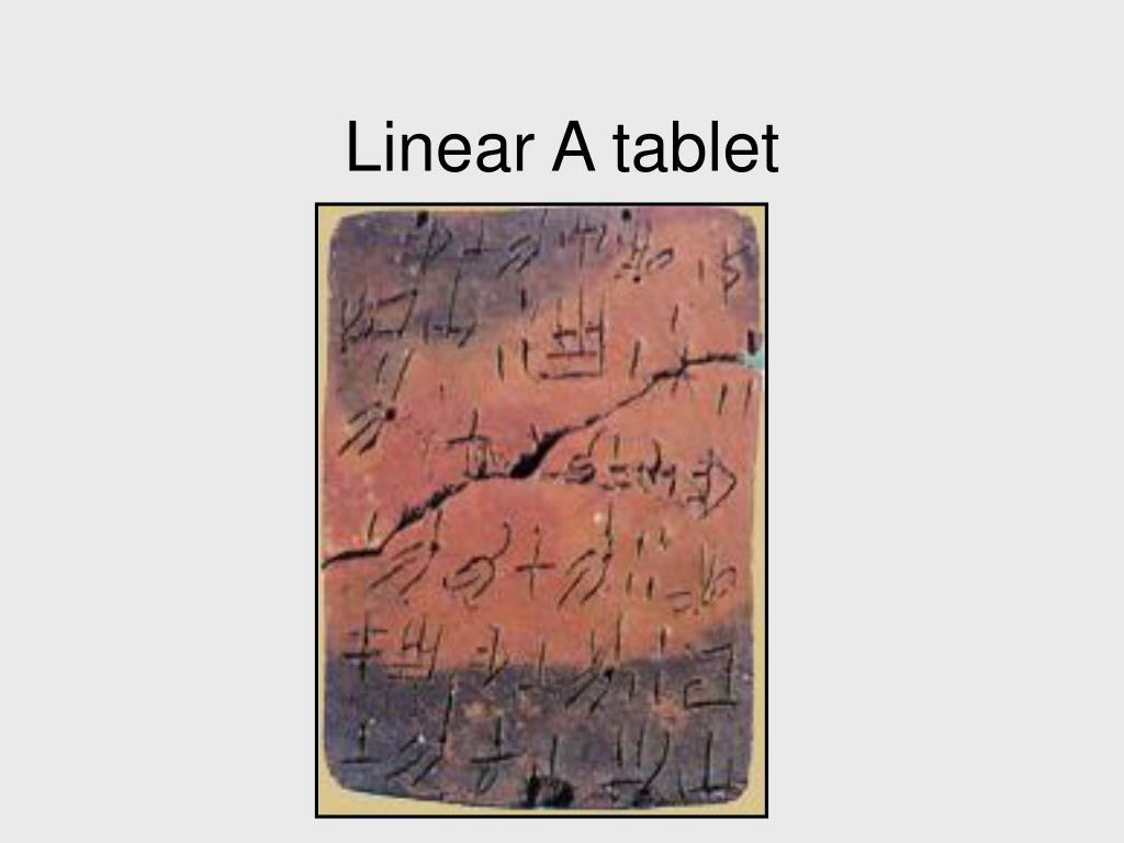 Linear A tablet
