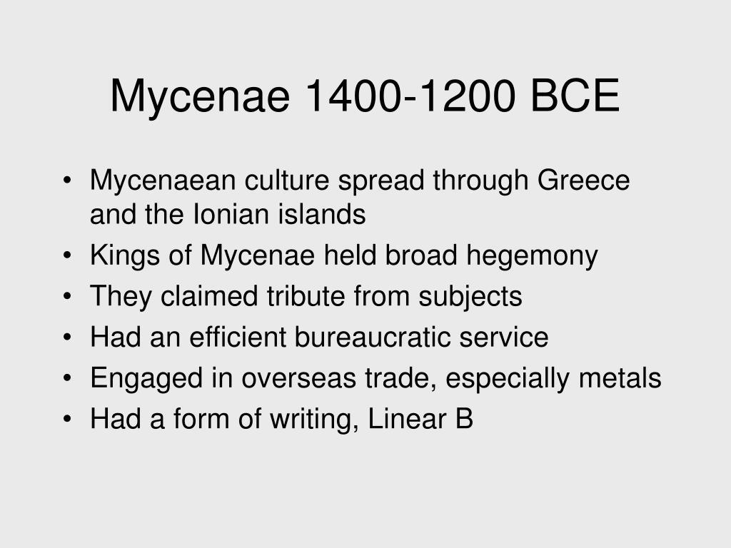 Mycenae 1400-1200 BCE