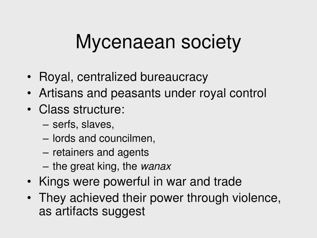 Mycenaean society