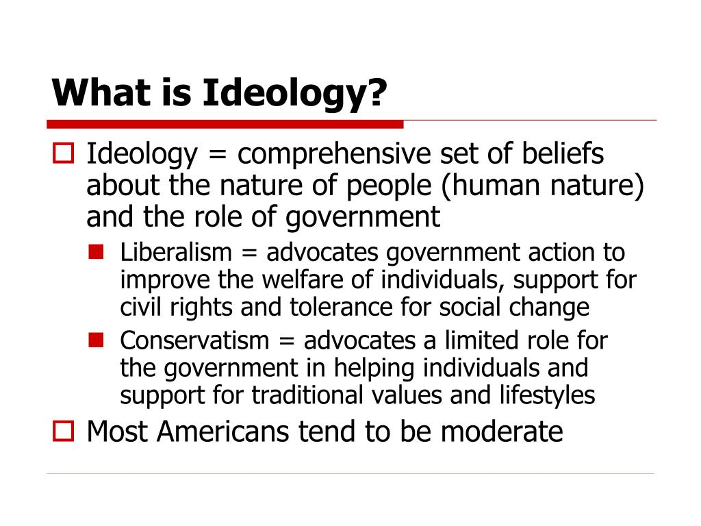 What is Ideology?
