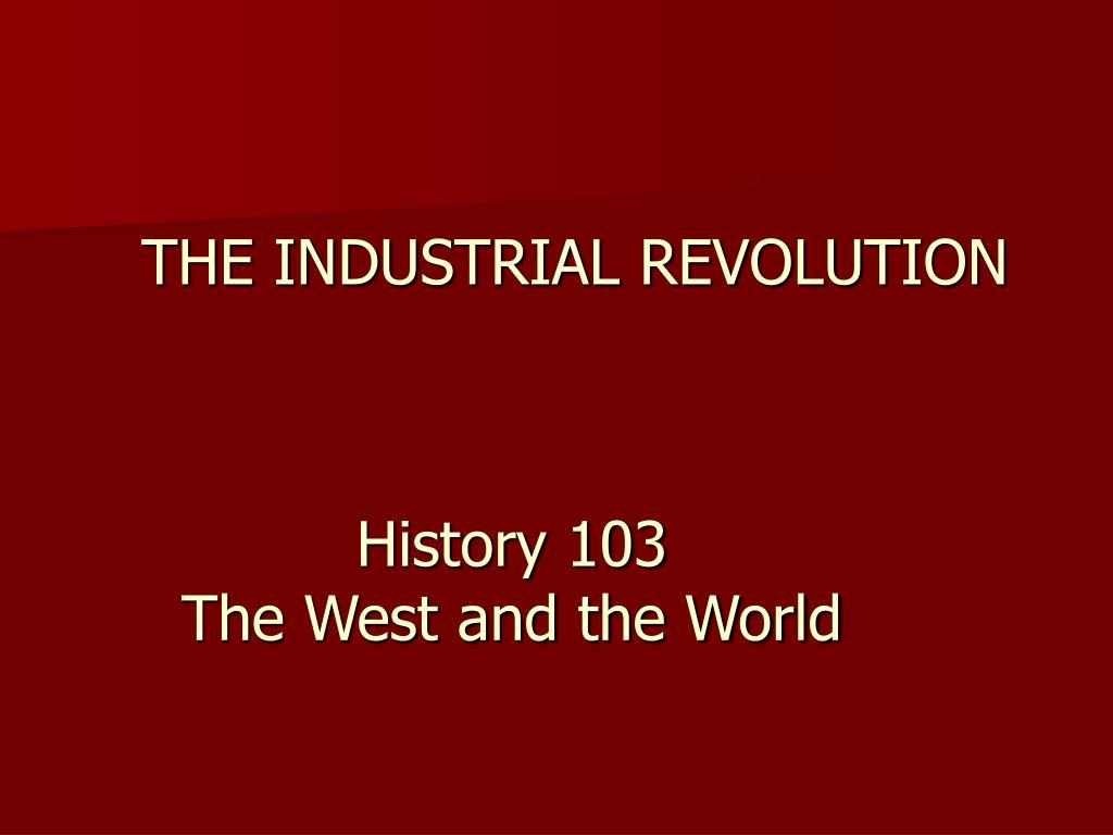 the industrial revolution l.