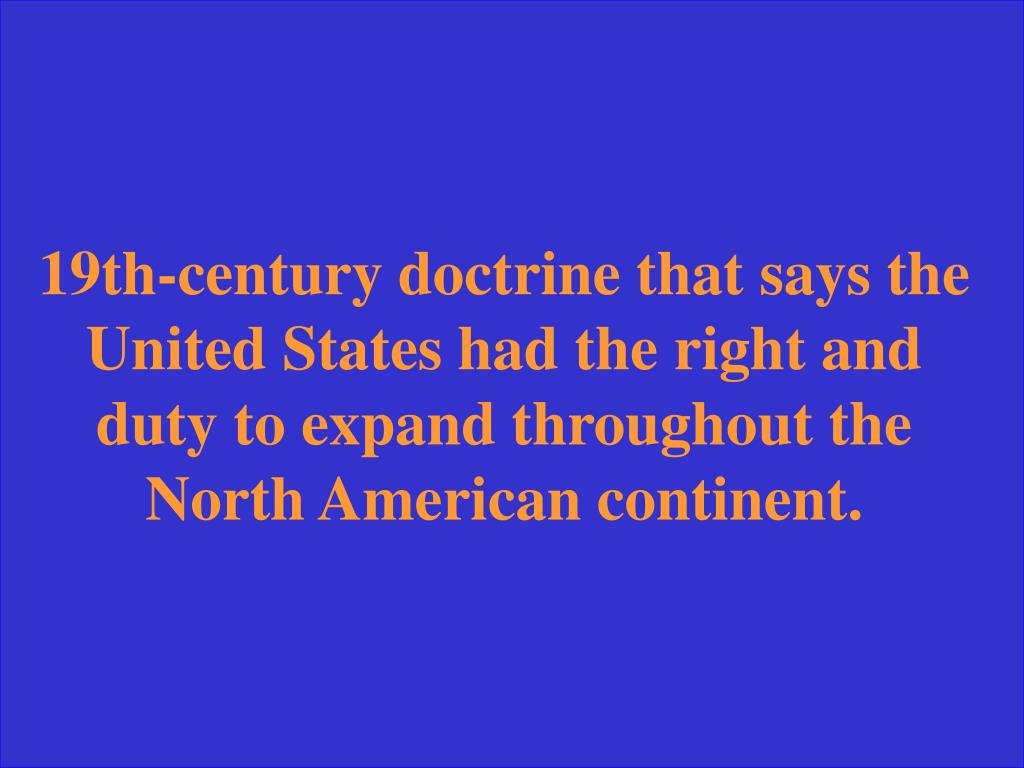 19th-century doctrine that says the