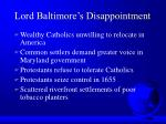lord baltimore s disappointment