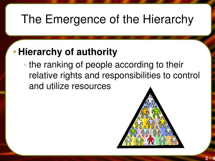 The Emergence of the Hierarchy