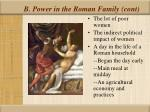 b power in the roman family cont