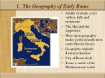 i the geography of early rome