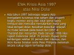 efek krisis asia 1997 atas nilai dolar
