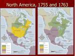 north america 1755 and 1763