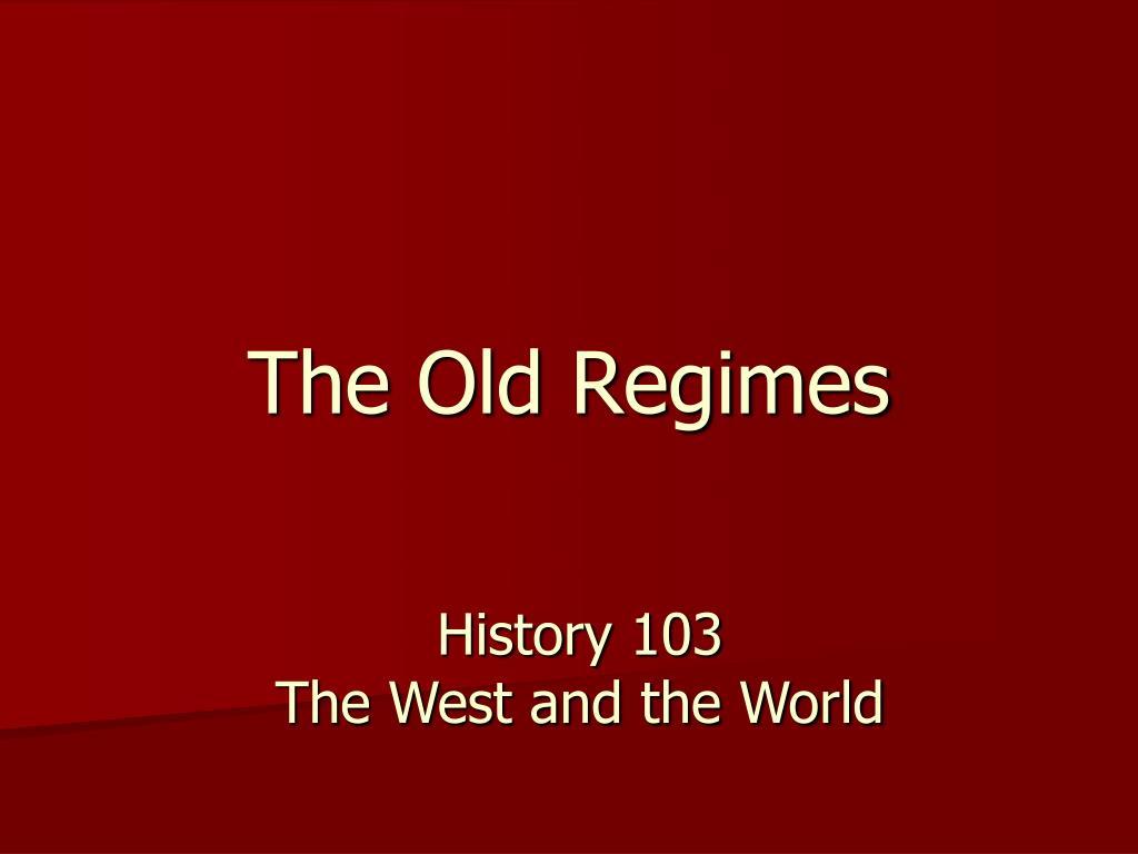 the old regimes l.