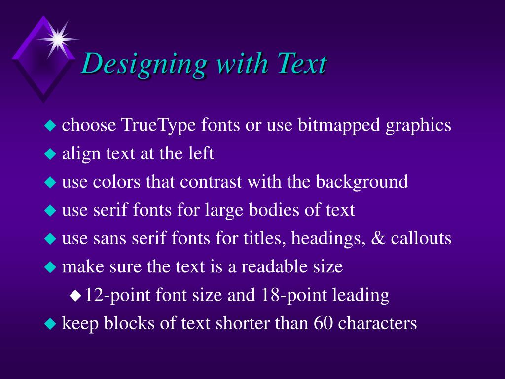 Designing with Text