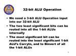 32 bit alu operation