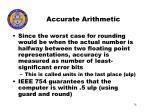 accurate arithmetic74