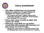 carry lookahead