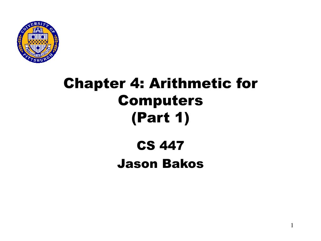 chapter 4 arithmetic for computers part 1 l.