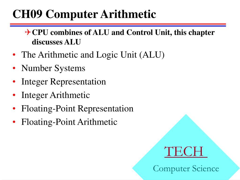 ch09 computer arithmetic l.