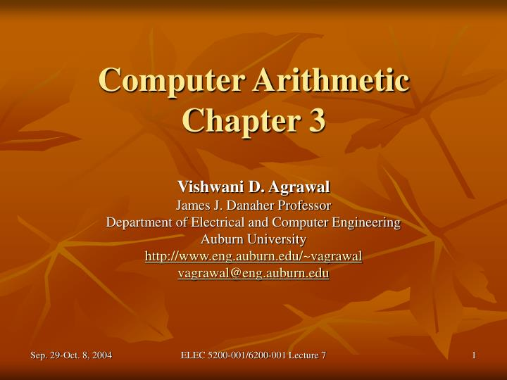 Computer arithmetic chapter 3