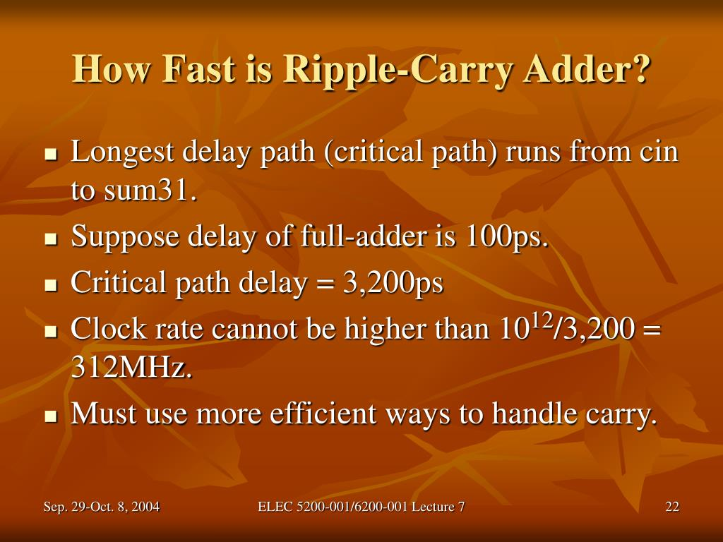How Fast is Ripple-Carry Adder?