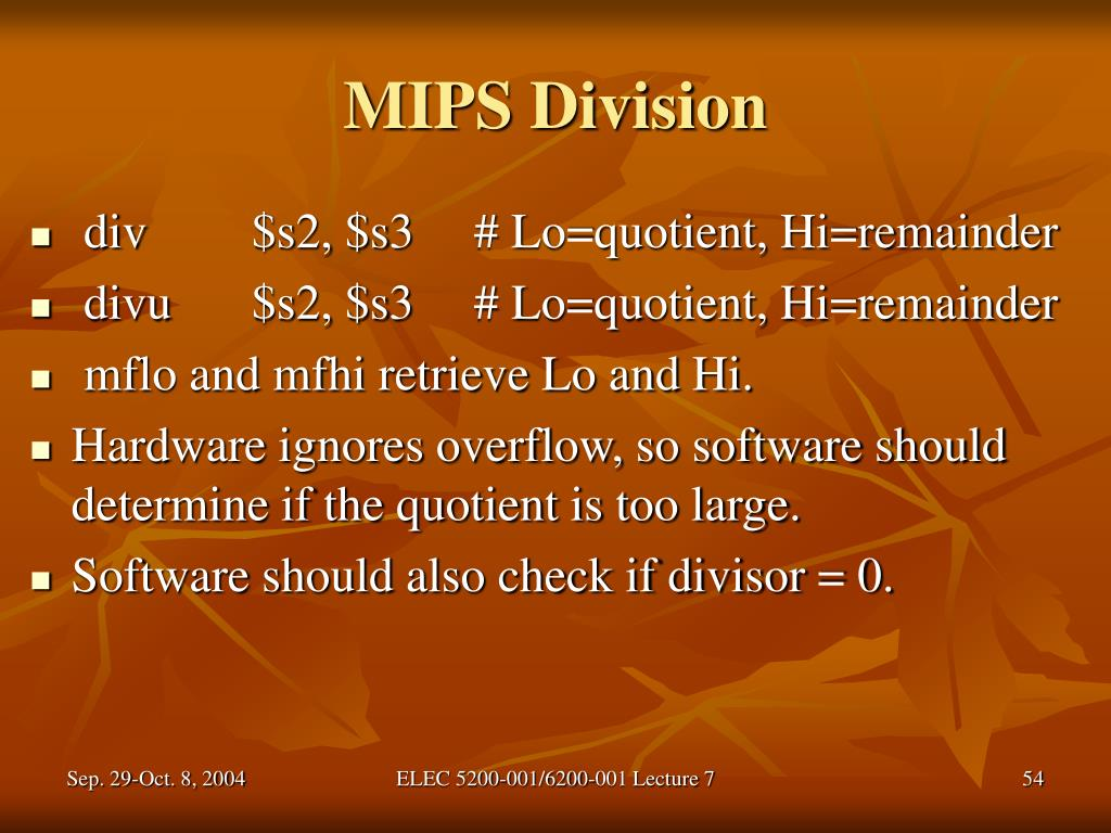 MIPS Division