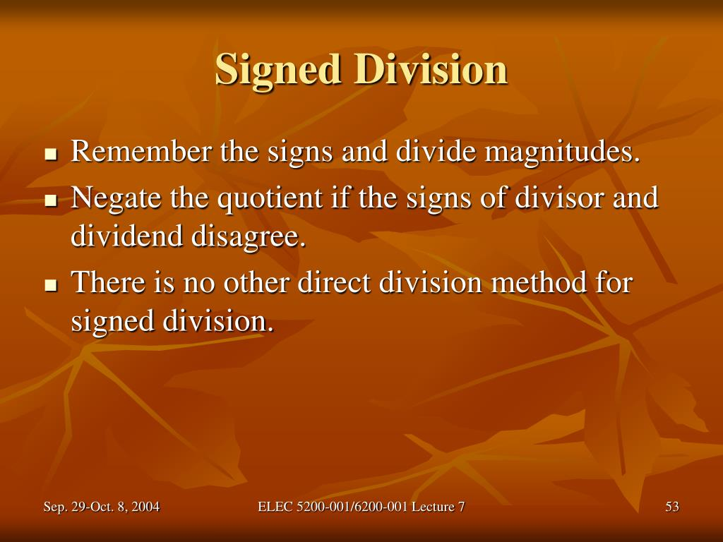 Signed Division