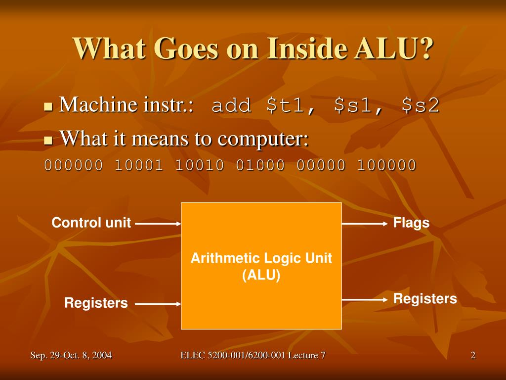 What Goes on Inside ALU?