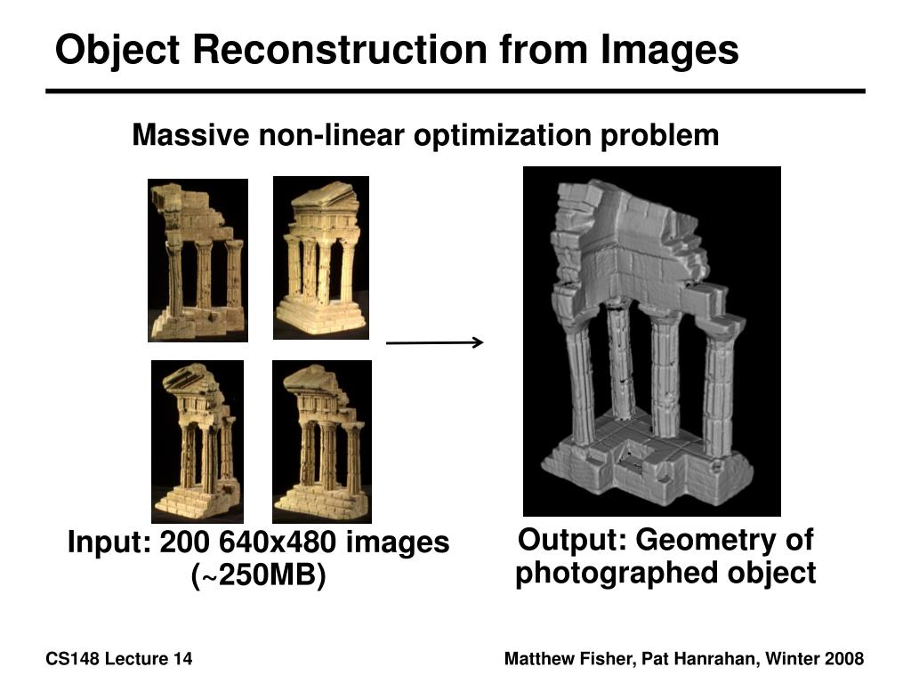 Object Reconstruction from Images