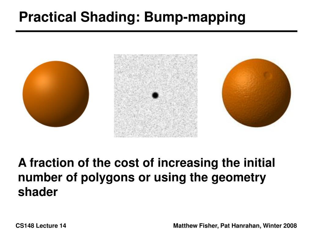 Practical Shading: Bump-mapping