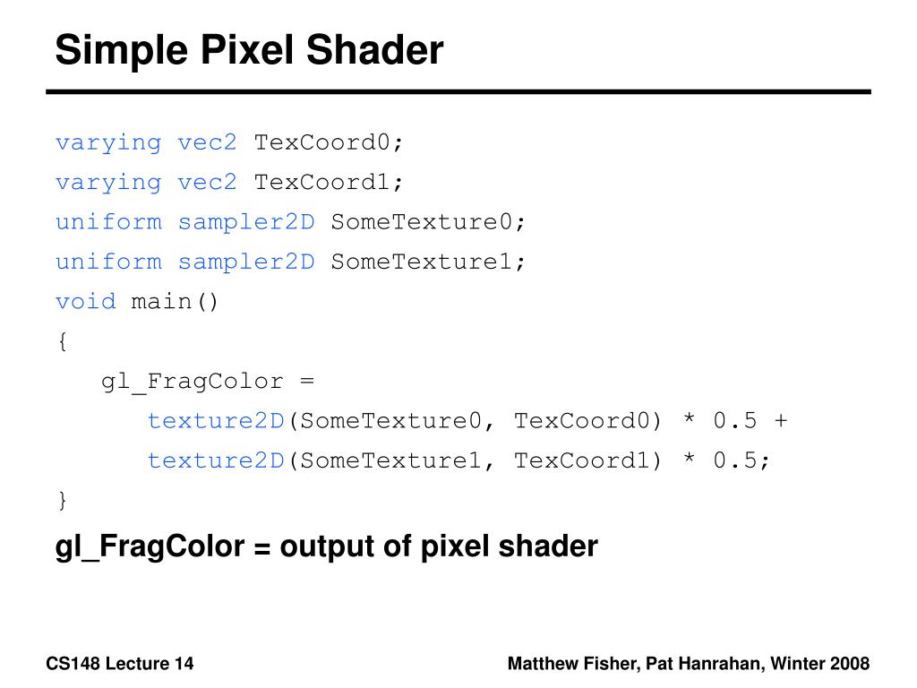 Simple Pixel Shader