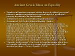 ancient greek ideas on equality