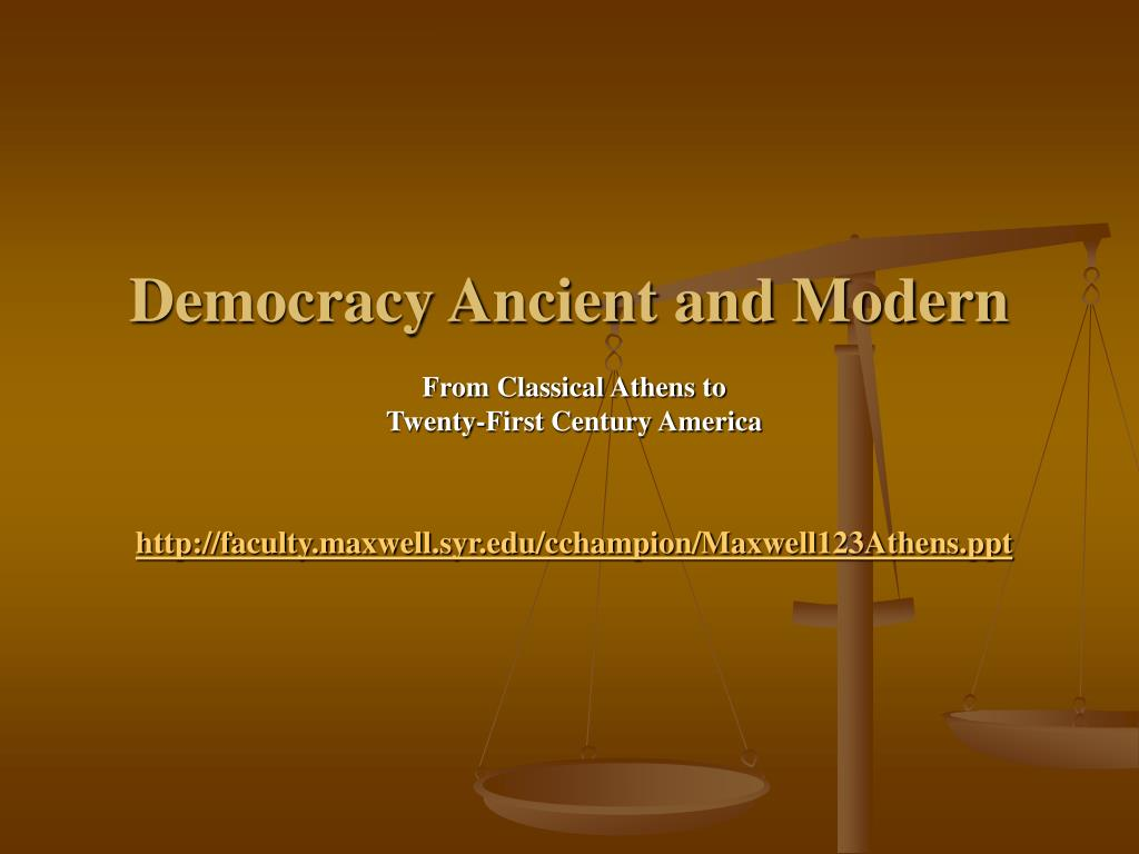 democracy ancient and modern l.