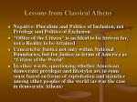 lessons from classical athens