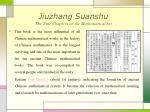 jiuzhang suanshu the nine chapters on the mathematical art