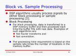 block vs sample processing48