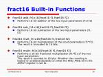 fract16 built in functions