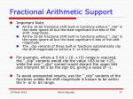 fractional arithmetic support17