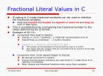 fractional literal values in c40