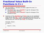 fractional value built in functions in c