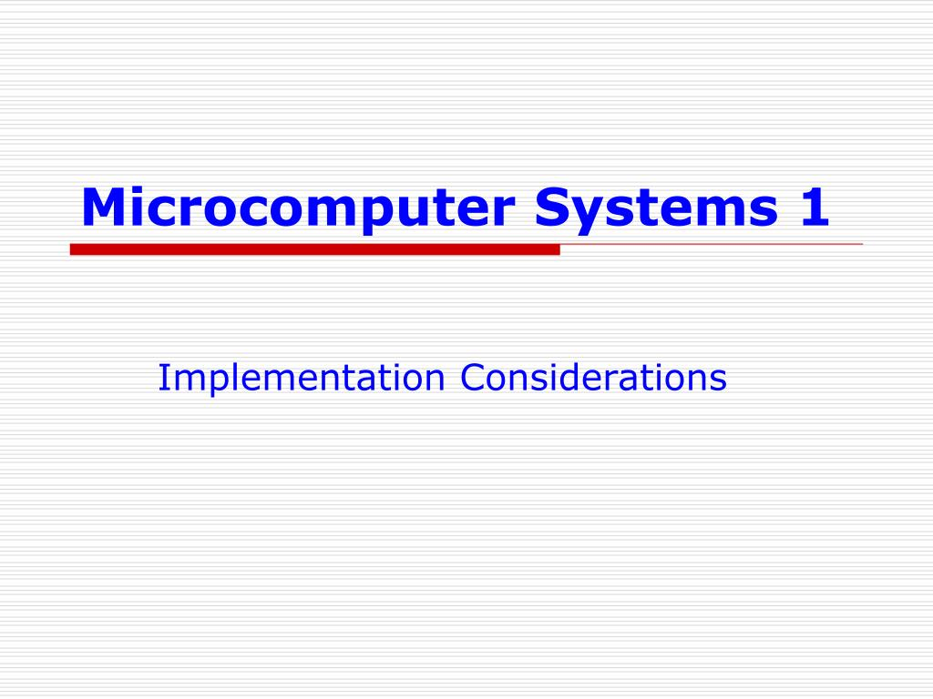 microcomputer systems 1 l.