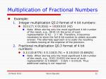 multiplication of fractional numbers