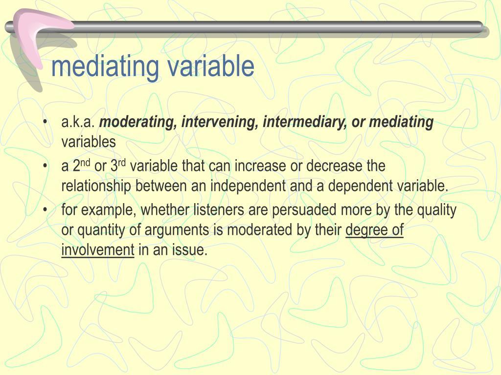 mediating variable